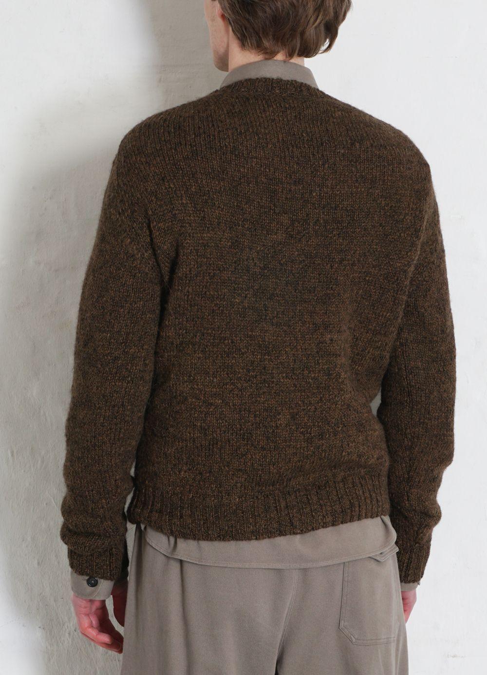 Hansen Garments MATTIAS   Knitted Crew Neck Sweater   tobacco