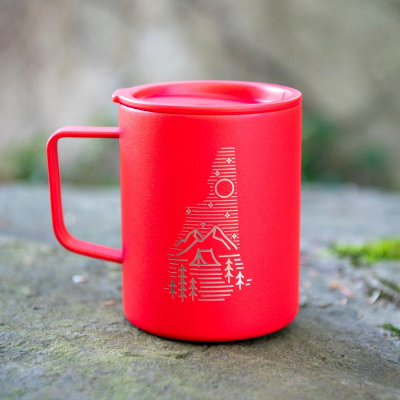 Image of Camping Logo Coffee Mug Insulated - Red Color
