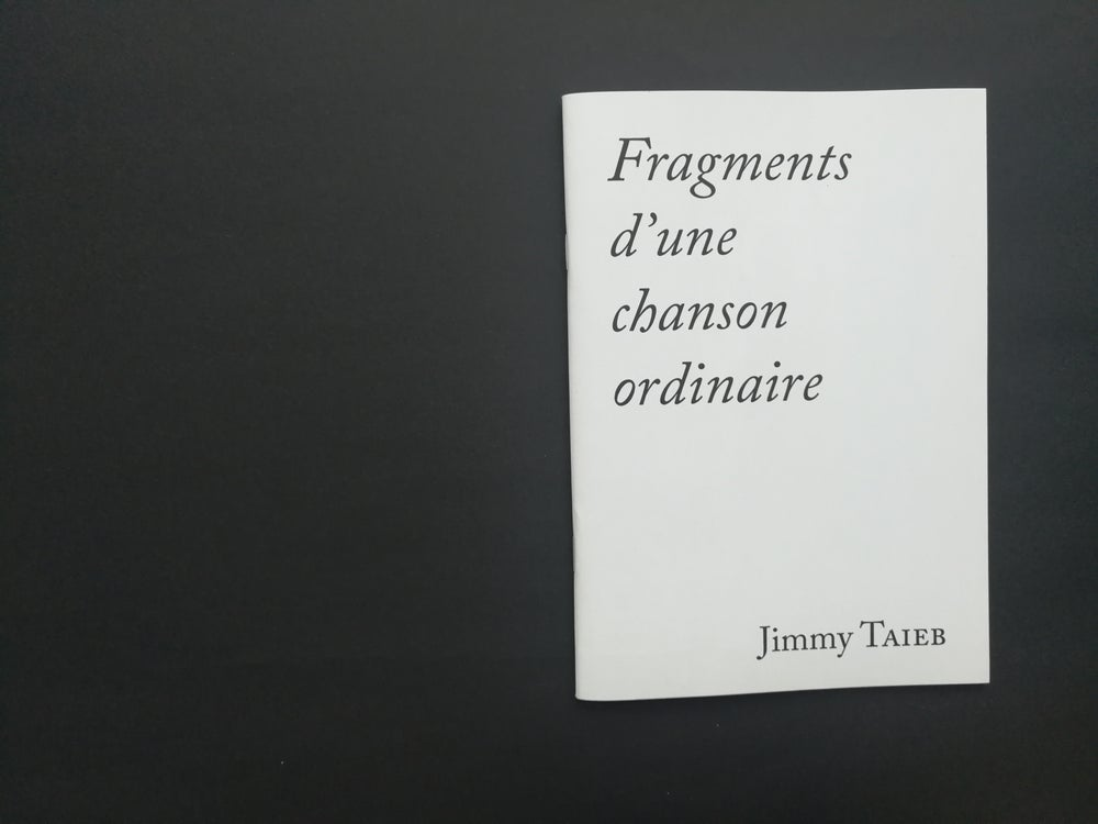 Image of Fragments d'une chanson ordinaire / Jimmy Taieb