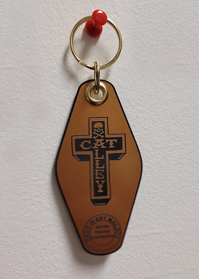 Image of Alley Cat Keychain Gold