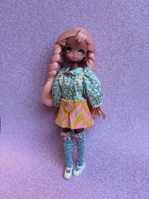 Image of Lounging Linda ~ Herringbone Mini Skirt Set for Jjorori and Kuku Clara