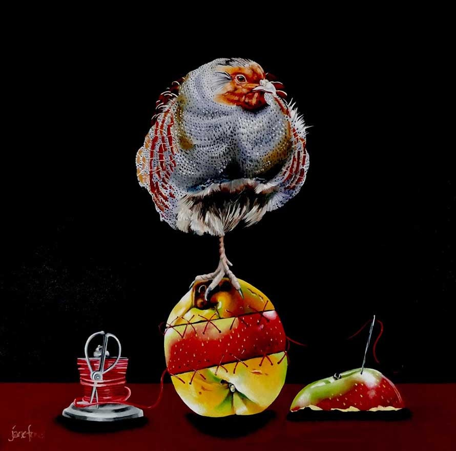 Image of Jane Ford - 'The Quince Of Frankenstein' - Original Oil On Canvas Painting
