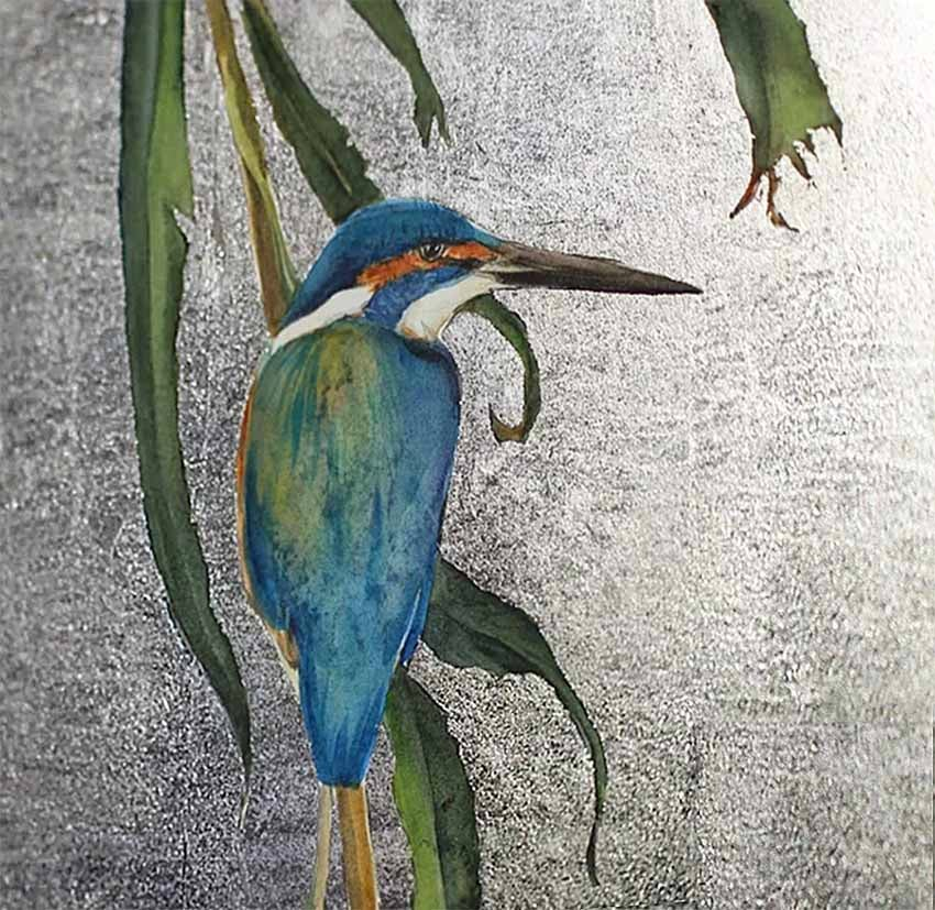 Image of Jackie Morris - 'Peace Of The Riverbank' - Limited Edition Print With Silver Leaf