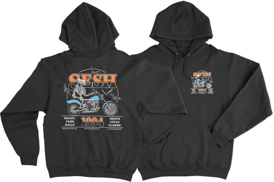 """Image of """"DeathCycleClassic"""" hoodie"""