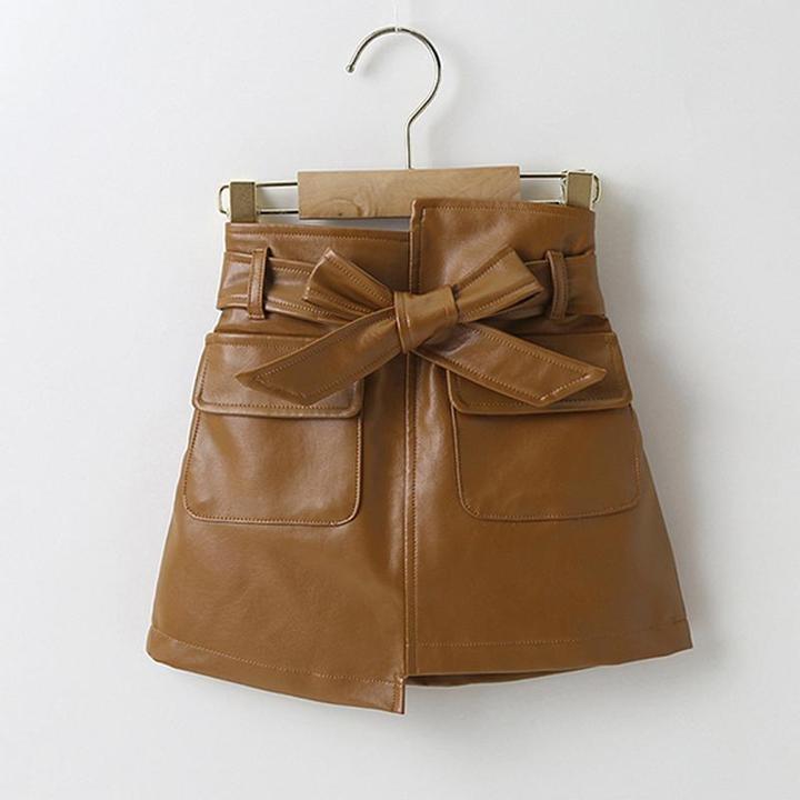 Image of PU Bow Skirt