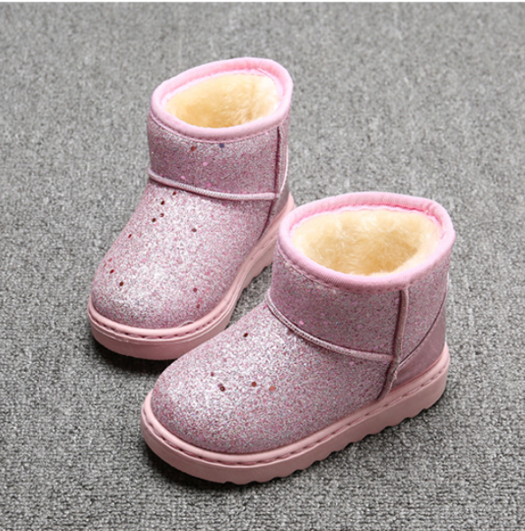 Image of Glitter Fur Lined Boots