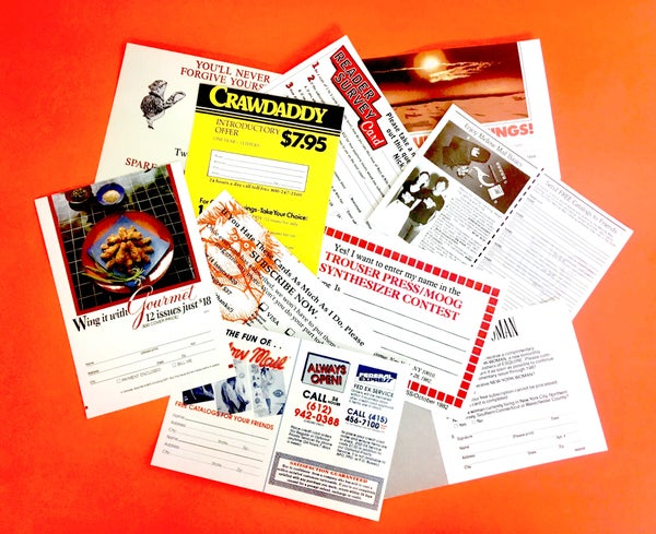 Image of Spare Yourself the Anguish: Selected Magazine Subscription Cards, 1967-1997