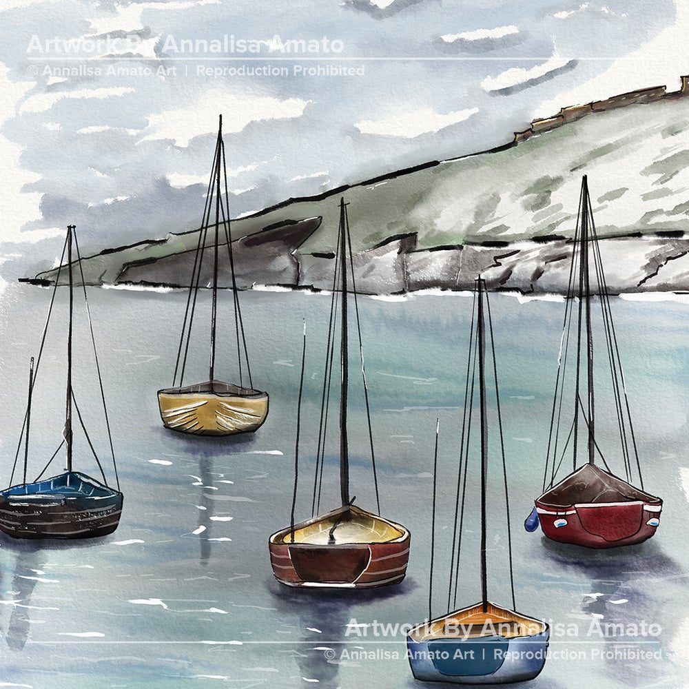 Relaxing Day on the Boat - Artwork - Prints