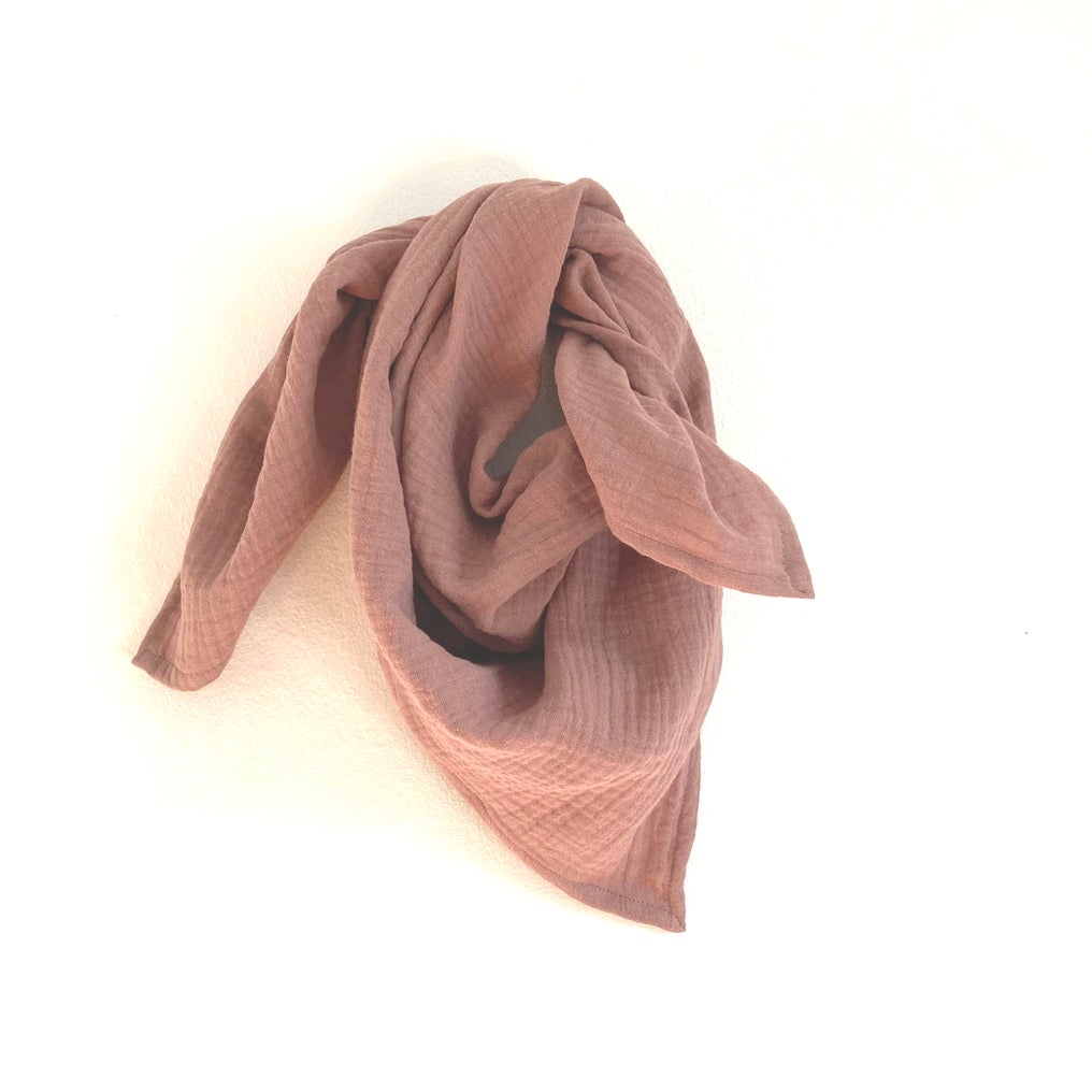Gauze Scarf- clay pink