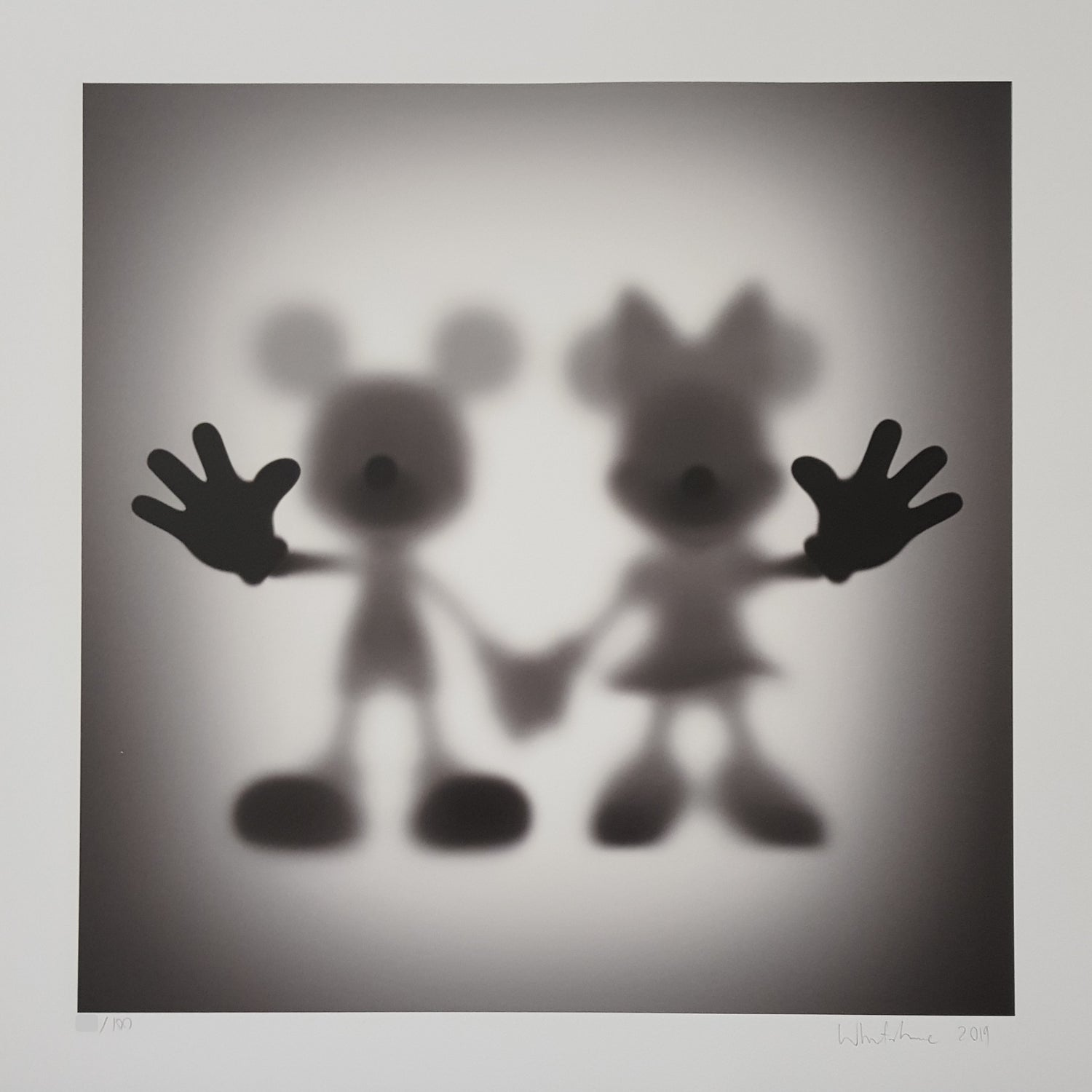 """Image of GONE """"MICKEY & MINNIE""""- PRINT EDITION OF 100 BY WHATSHISNAME - 60CM X 60CM"""