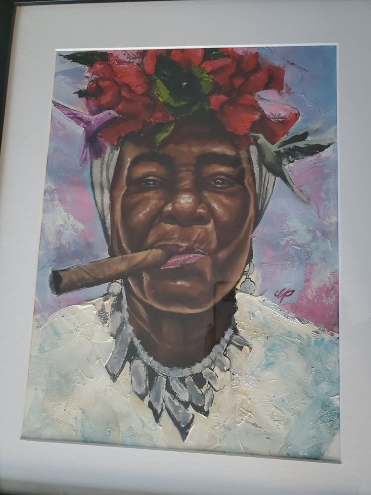 """Image of """"Caribbean Daughter"""" 14 x 20 oil on paper"""