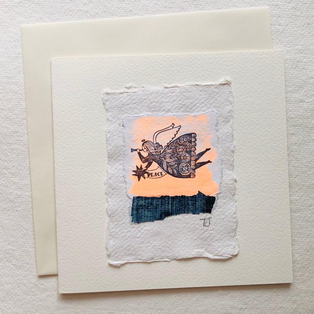 Image of Angel Collage Greetings Card ii