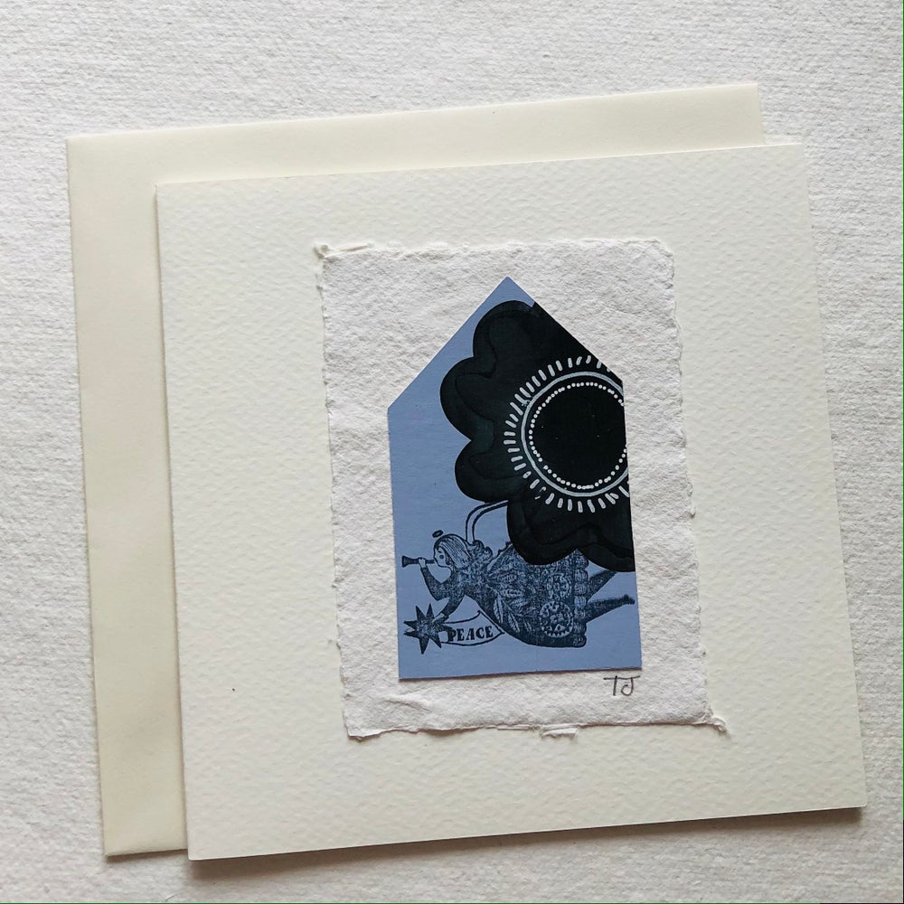 Image of Angel Collage Greetings Card iii