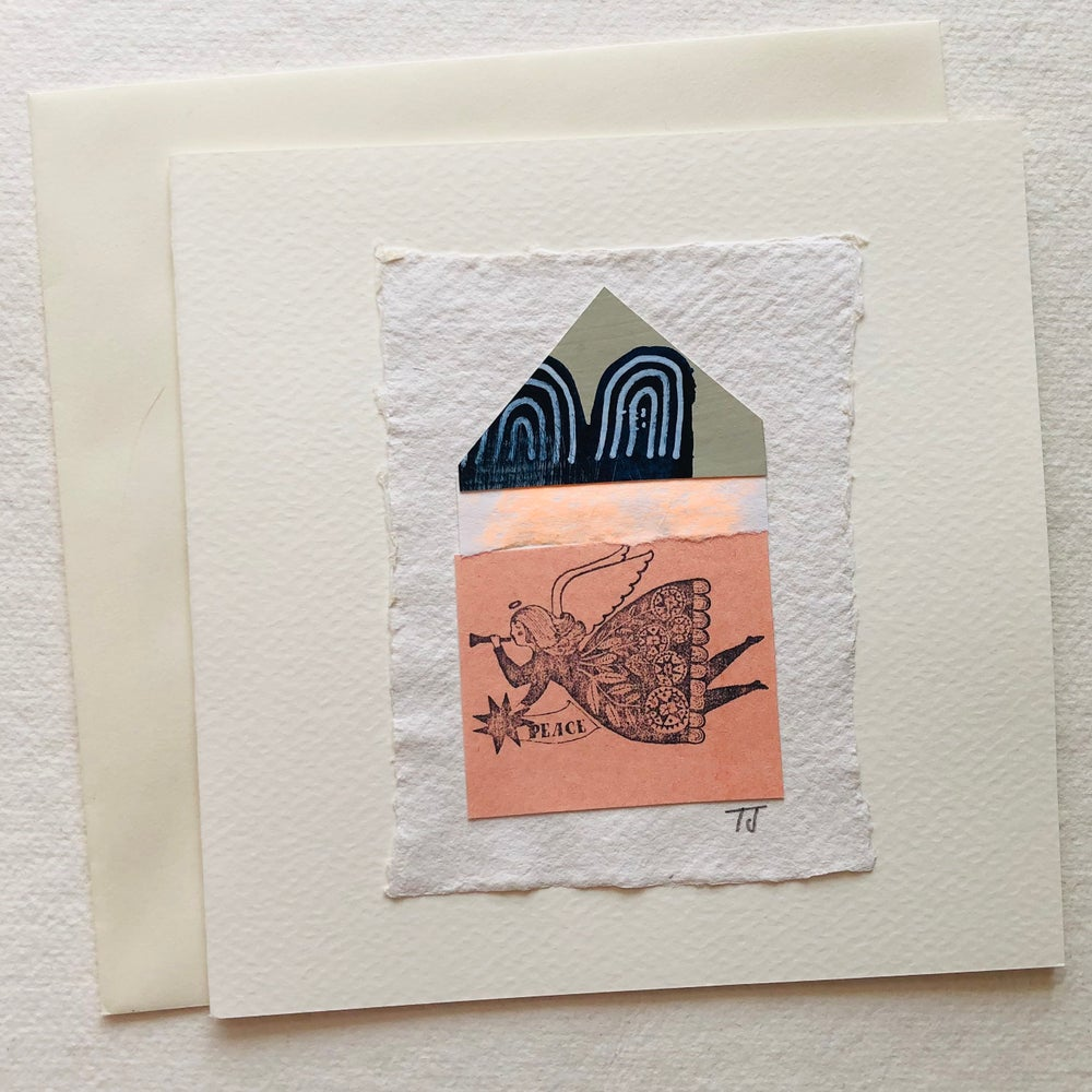 Image of Angel Collage Greetings Card v