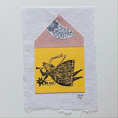 Image of Angel Collage Greetings Card viiii
