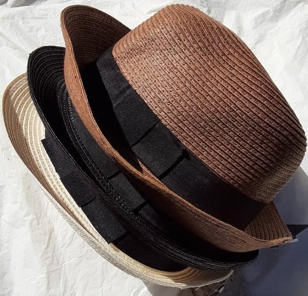 Image of POP Headwear Straw Fedora Hat