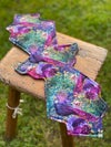 14.5 Inch Cloth Sanitary Pad Peacock/Purple Eco Boost