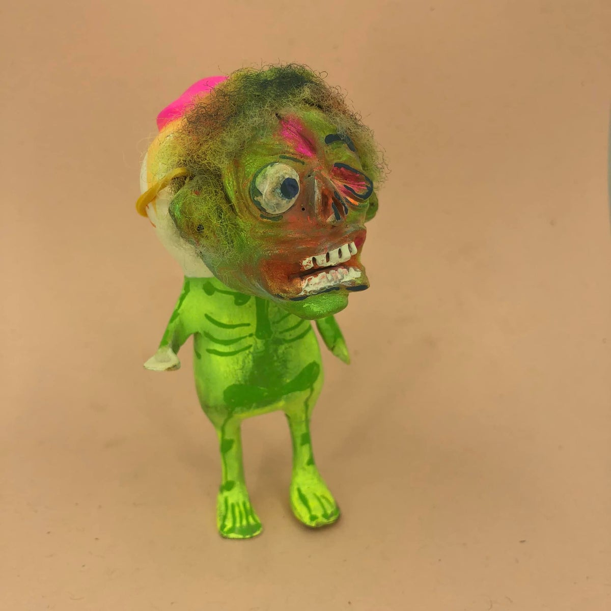 Image of Trick or treat bandit #1 Zombie  one of a kind sculpture