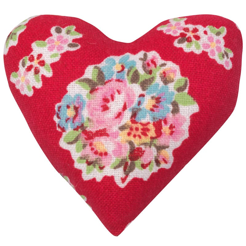 Image of GreenGate Fabric Hanging Christmas Ornament ~ Heart Designs