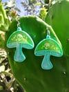 Alien Invasion Mushroom Earrings