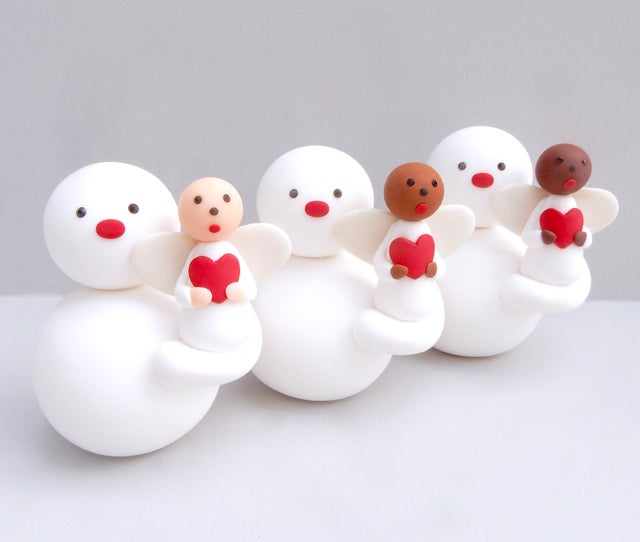 Image of 🌟❤️ New for 2021 Standing Snowmen with Angels or Gnomes ❤️🌟