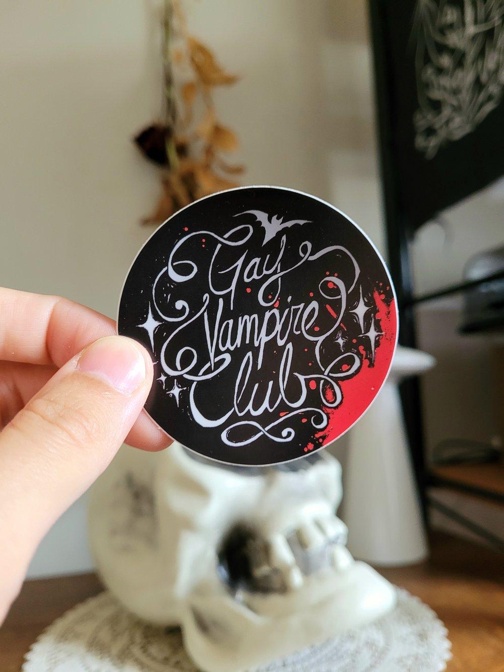 Gay Vampire Club Sticker