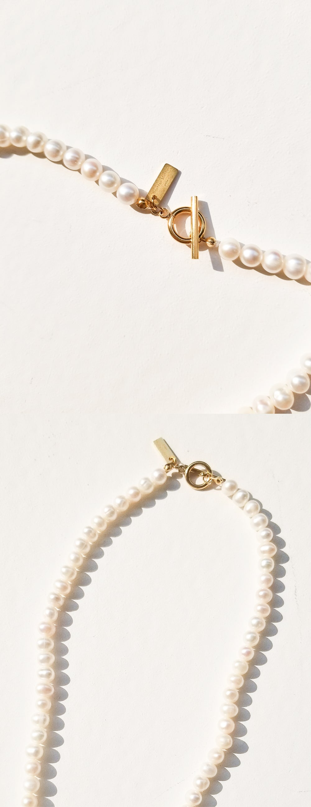 Chance pearl necklace •  Gold / Pearl