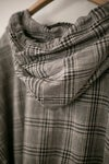 O-PROJECT BRUSHED CHECKED HOODED SHIRT