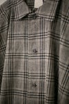 O-PROJECT BRUSHED CHECKED WIDE SHIRT