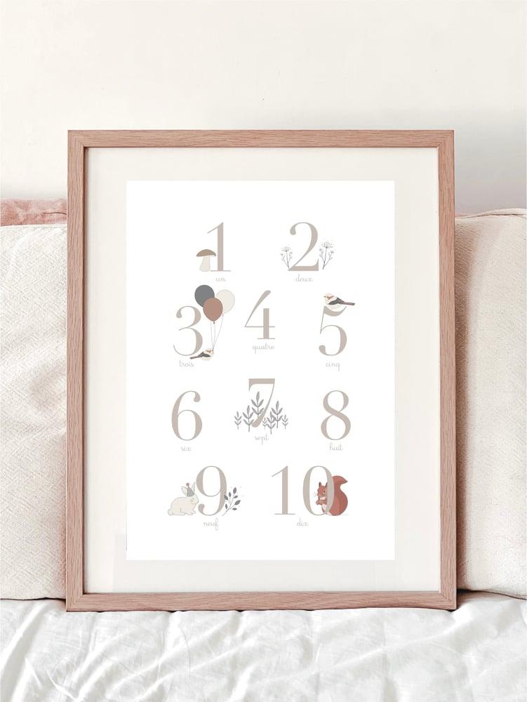 Image of Affiche A3 - Les chiffres - Mixte