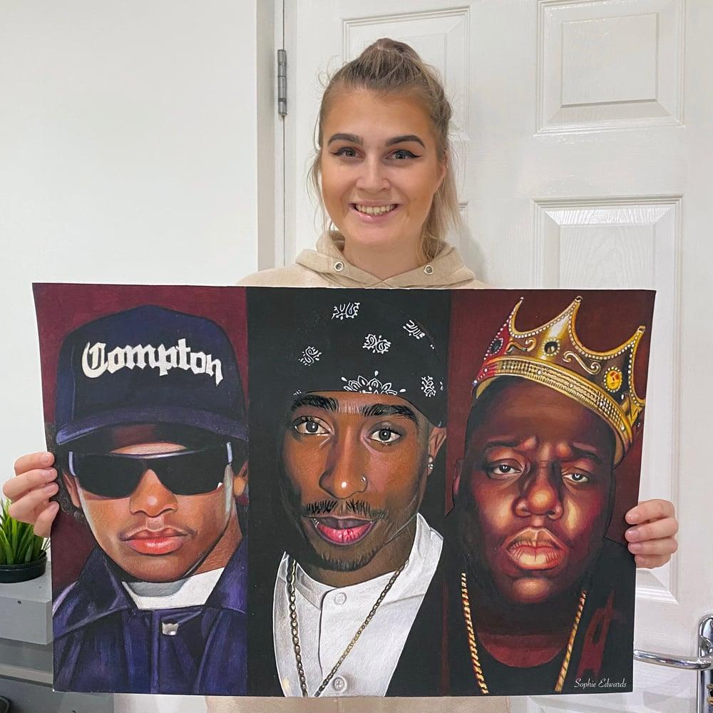 Image of Eazy E, Tupac & Biggie Smalls