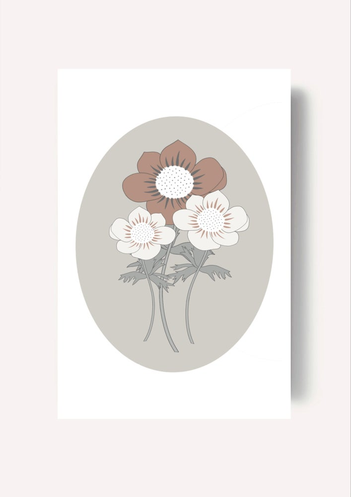 Image of Carte - Anemones d'automne