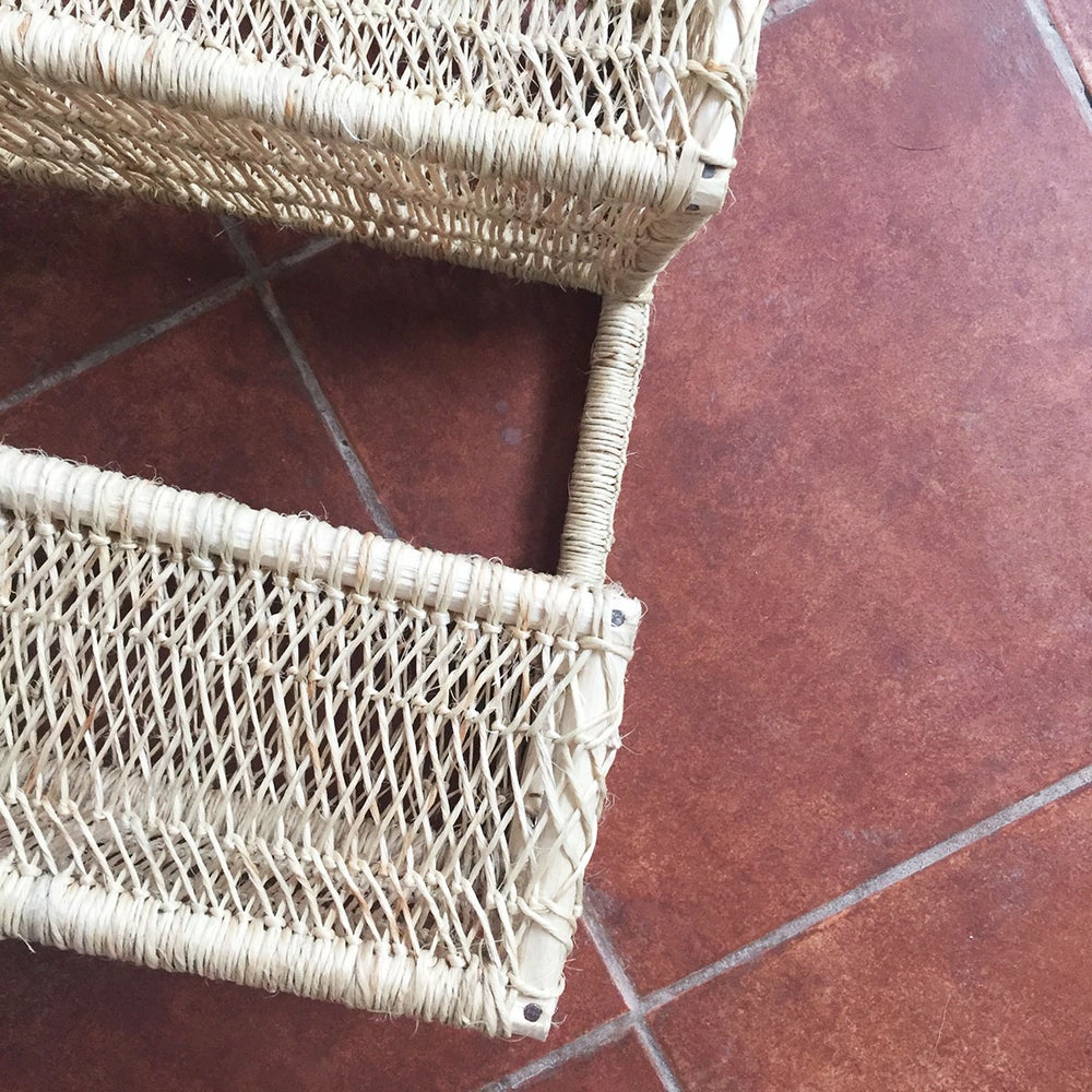 Image of Emi Tree Bark Hanging Storage Basket
