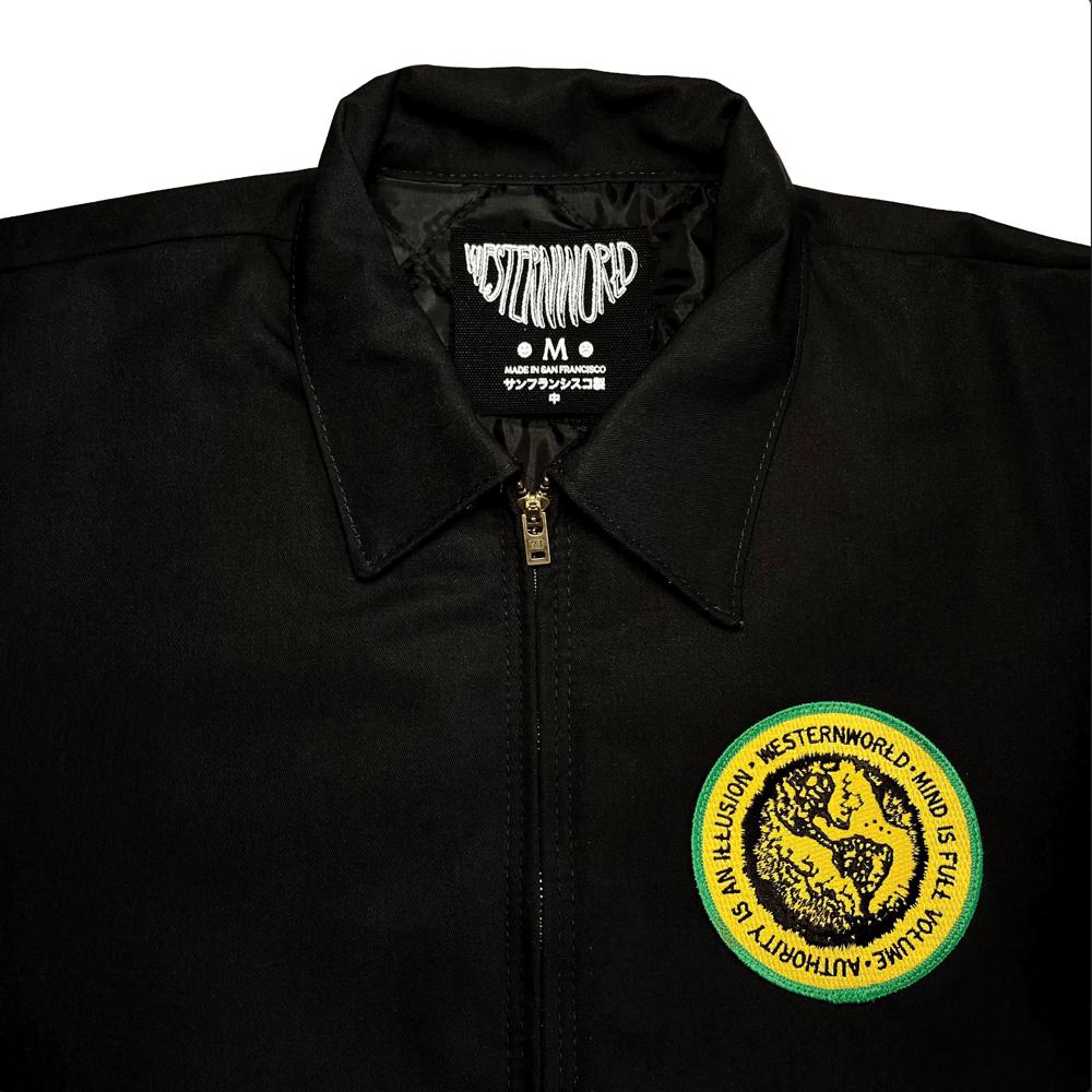 Full Volume Zip-Up Patch Jacket