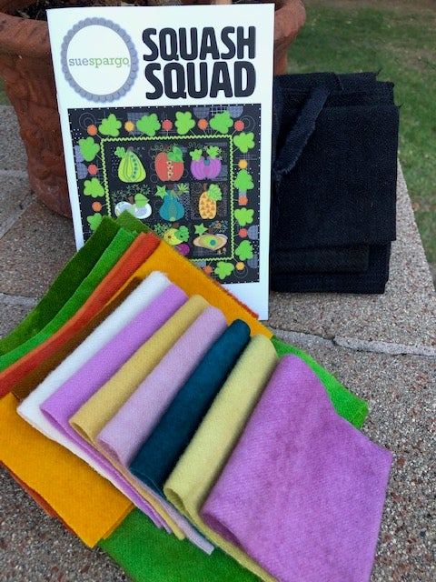 Image of Squash Squad Kit & Pattern by Sue Spargo