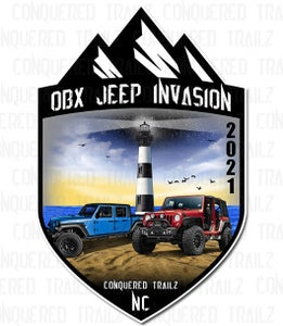 Image of OBX Jeep Invasion 2021 - Event Badge