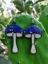 Starry Night Mushroom Earrings