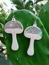 Glittery Mushroom Earrings