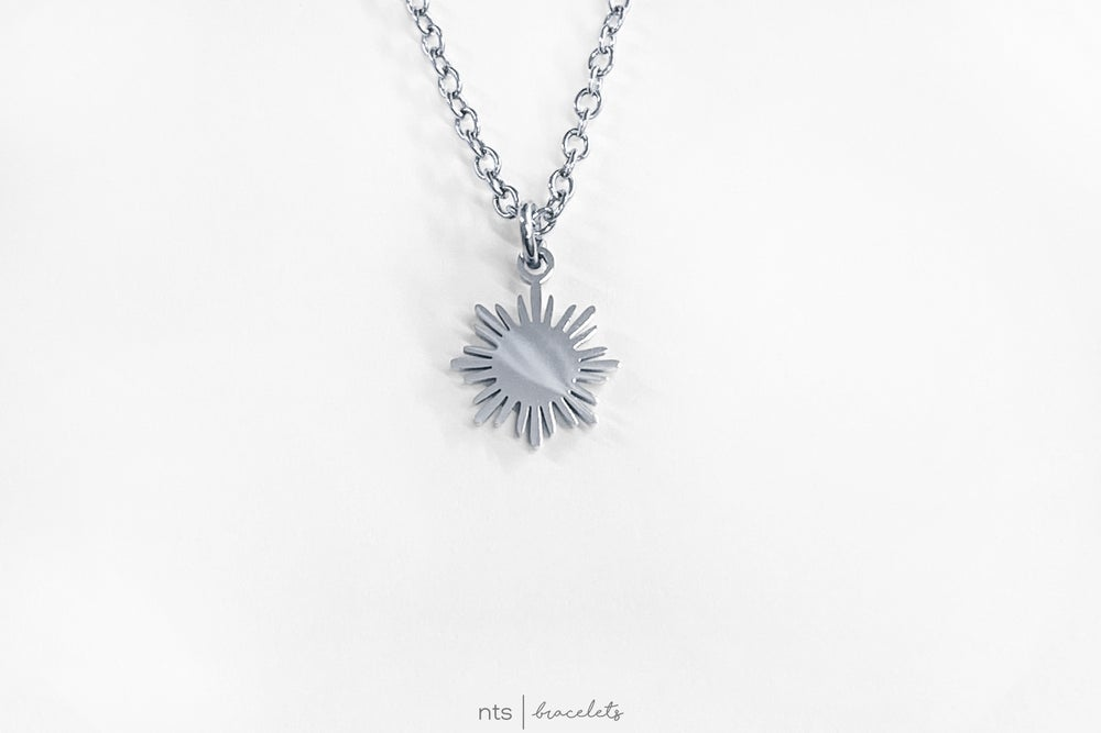 Image of FILIPINA SUN NECKLACE (Sun Pendant + Silver)