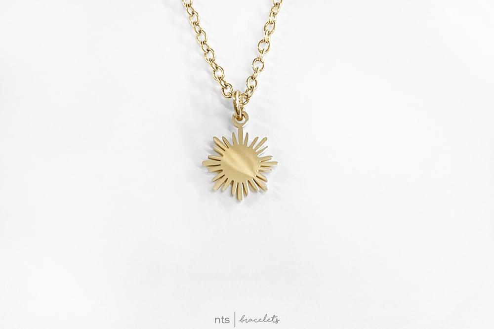 Image of  FILIPINA SUN NECKLACE (Sun Pendant + Gold)