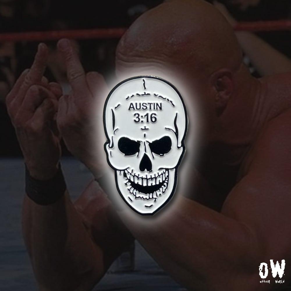 Image of 3:16 Skull pin