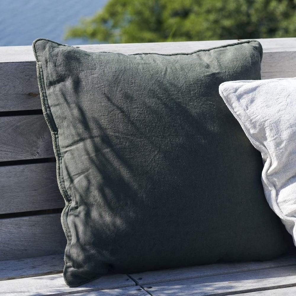 Image of Sai dark green cushion cover