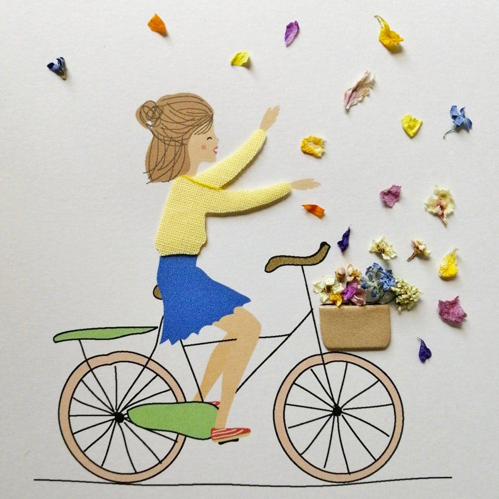Image of CADRE DÉCO ENFANT *LA BICYCLETTE*