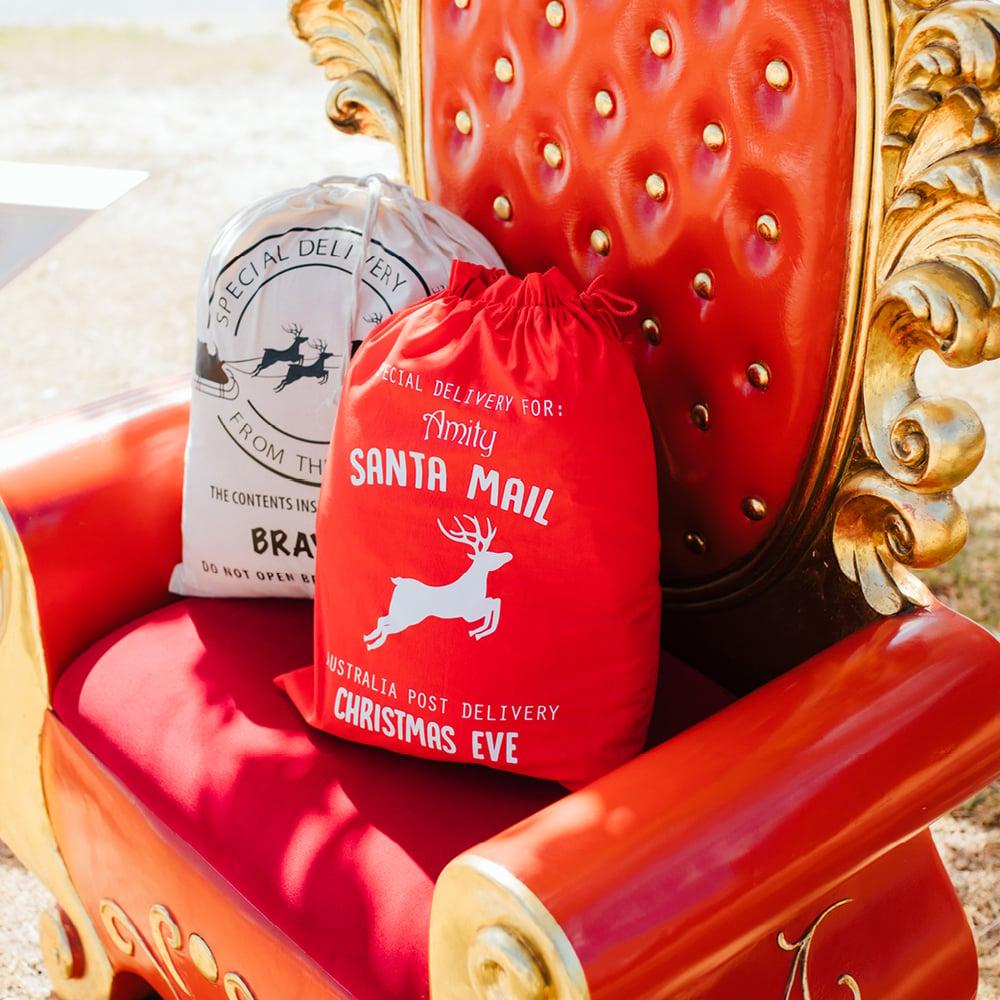 Image of Personalised Christmas Santa Sack - Santa Mail