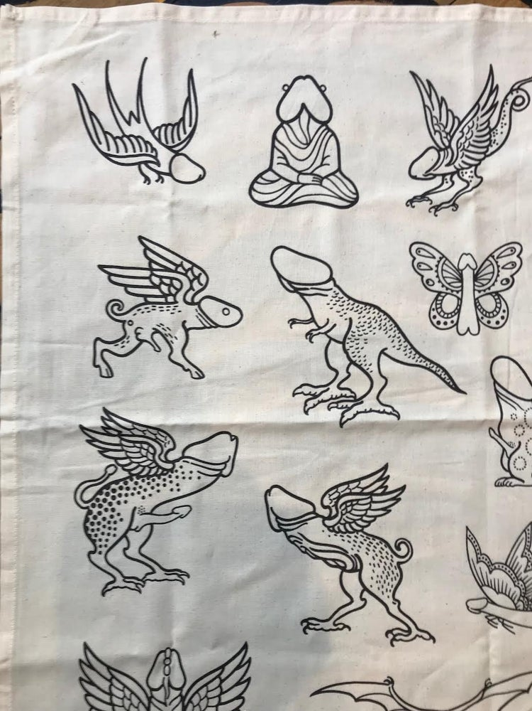 Image of Cock T- towel