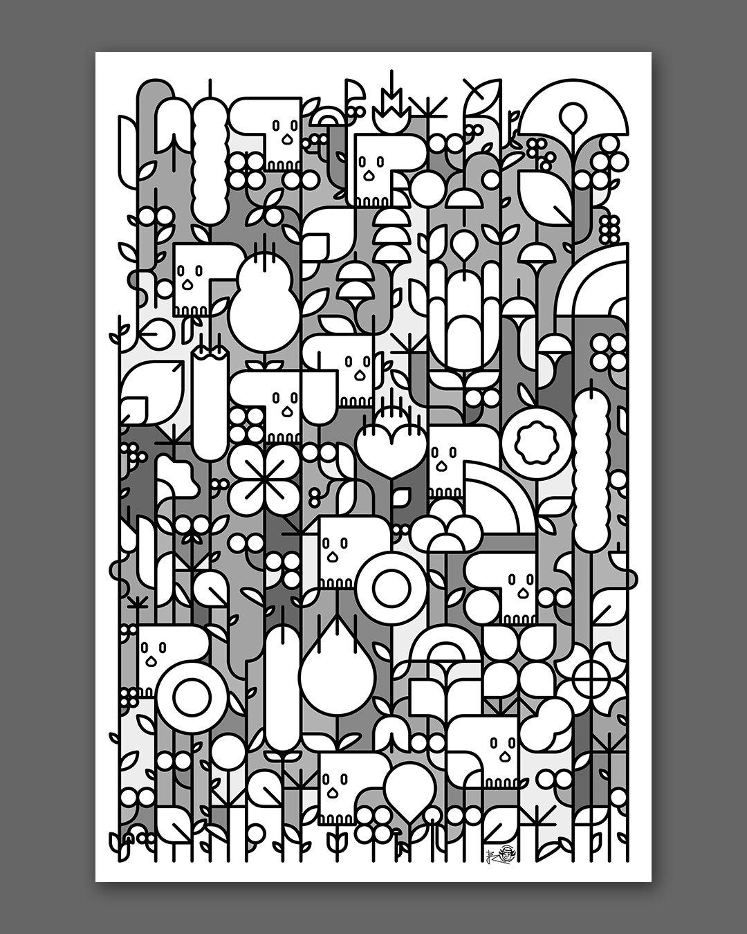 Skulls & Flowers ! (grey)