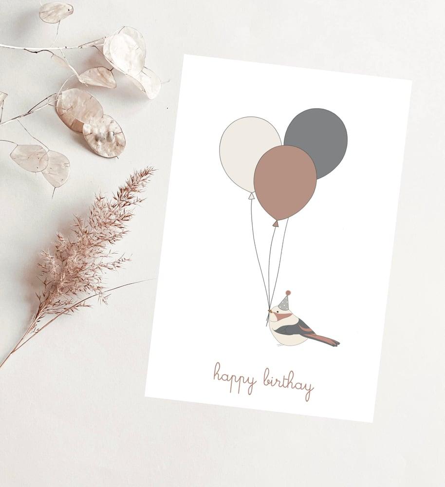 Image of Carte - Happy birthday petit oiseau