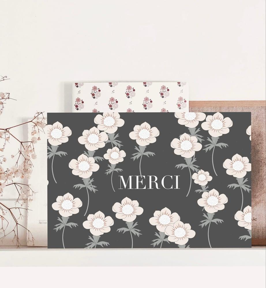 Image of Carte - Merci Anémone