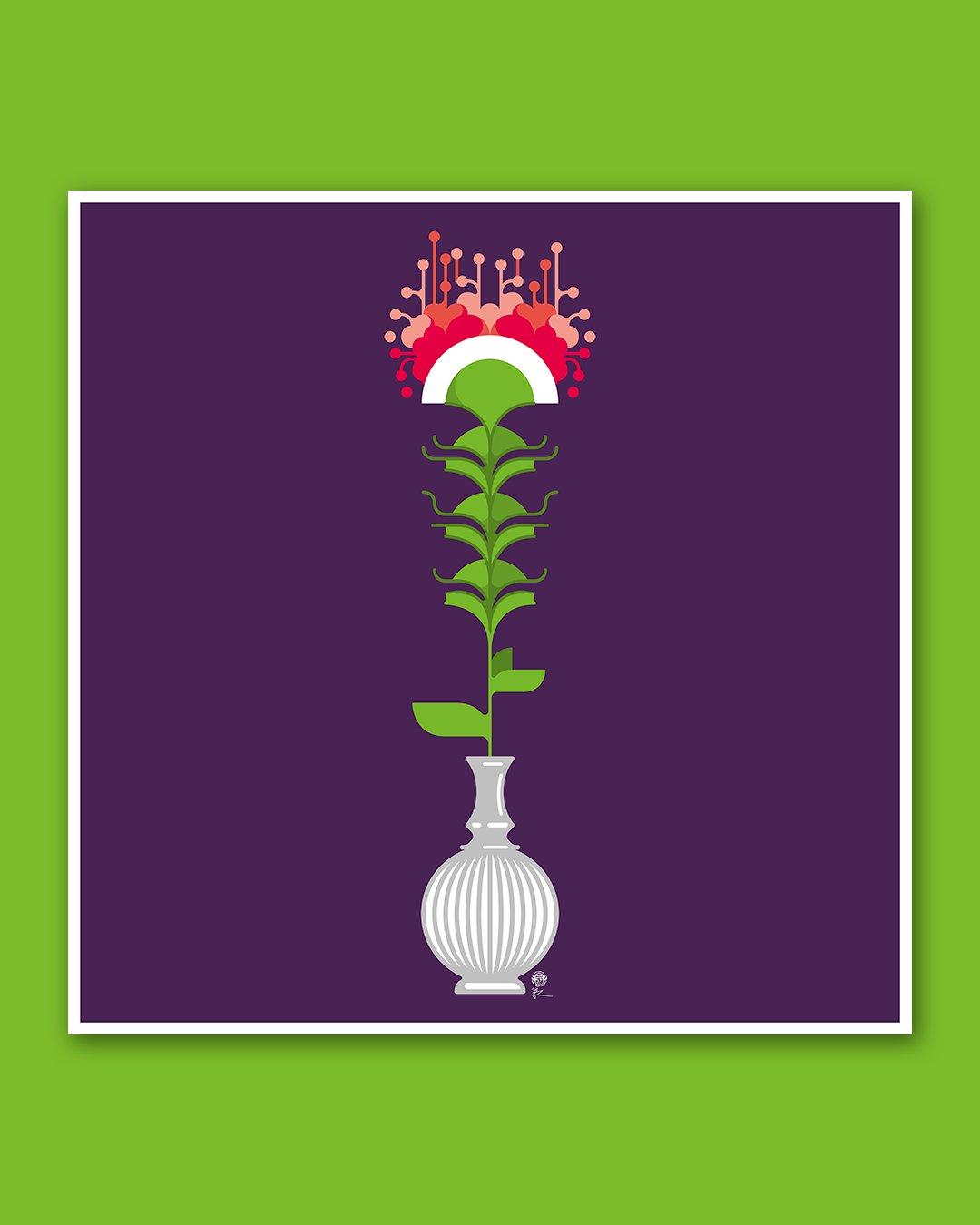 Fleur coupée ! (violet)