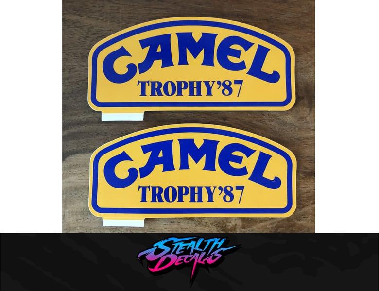 Image of 2x Camel Trophy '87 Madagascar Genuine vintage stickers